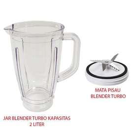 Jar Plastik Blender Turbo Kapasitas 2L Dengan Mata Pisau Blender Turbo