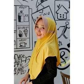 Jilbab Serut Jokowi Kombinasi Dua Warna Terbaru