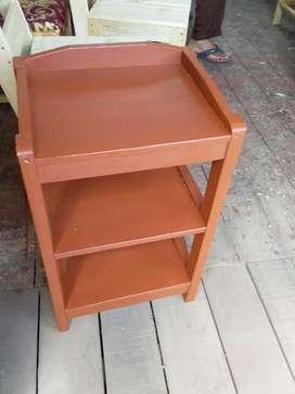 meja dispenser kayu meranti