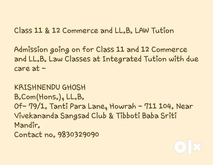Class 11 & 12 Commerce and LL.B. LAW Tution 0
