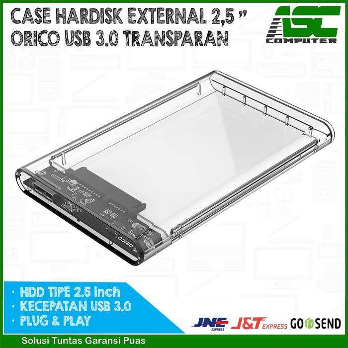 Casing Hardisk External 2,5″ inch ORICO USB 3.0 Transparan 0