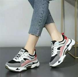 Sepatu wanita Import Sneakers Lari Korea Casual Simpul Tali