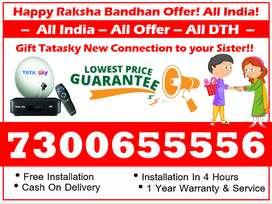 Raksha Bandhan 50% Off! Tata sky - Tatasky, Airtel, Dishtv HD New Box!