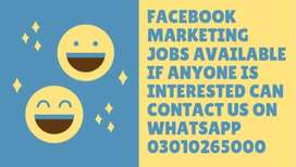 FACEBOOK MARKETING JOBS AVAILABLE IF IS ANYONE INTERESTED