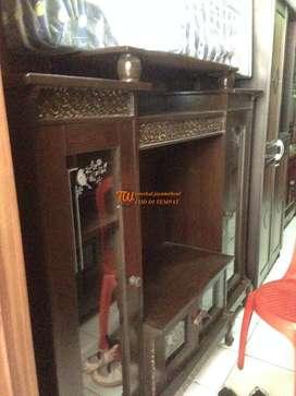 rak tv mdel diamon bahan full kayu klasik antar ke tampt