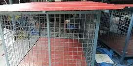 Dog iron cage