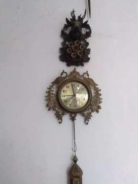 Antique old clock lamp