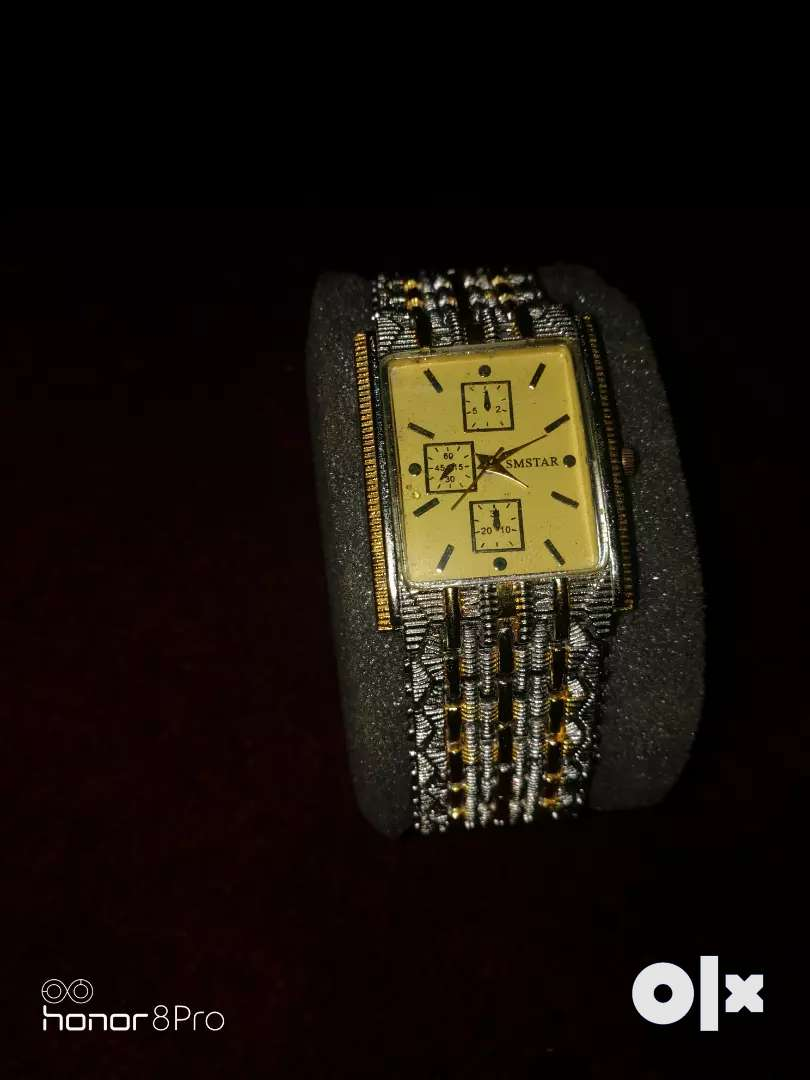 Gold silver watch 0