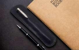 Pensil Case tempat pensil dan pulpen kulit asli jenis kulit pull up