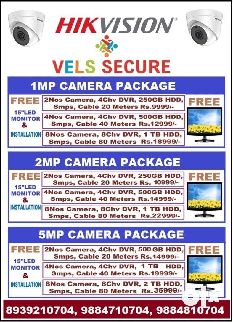 "CCTV CAMERA WHOLE SALE PRICE 9999/- FREE 15"" MONITOR & INSTALLATION 0"