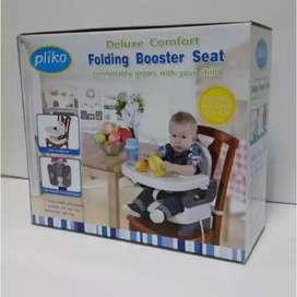 Kursi makan bayi Pliko folding booster seat baru