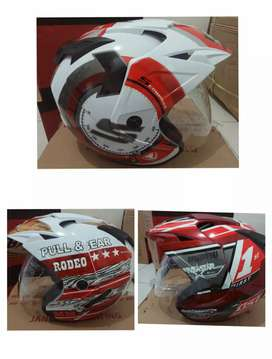 Helm BXp double visor serba 165 rb