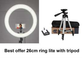20cm,26cm ring light with tripod 3110 offer price just for eid 3 modes