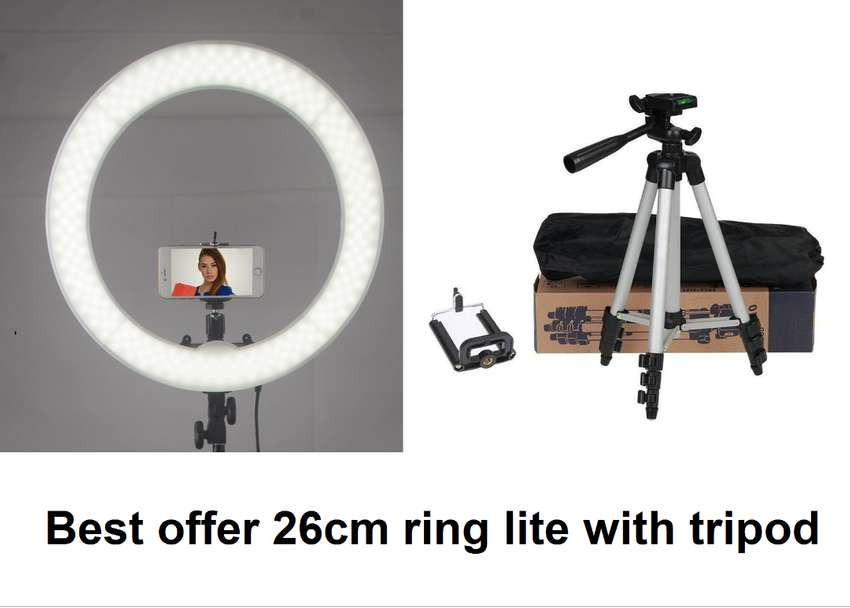 20cm,26cm ring light with tripod 3110 offer price just for eid 3 modes 0
