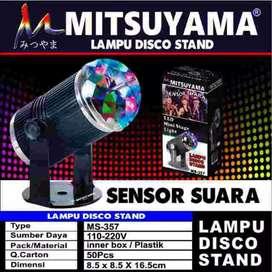 Lampu disco sensor suara /mitsuyama 357