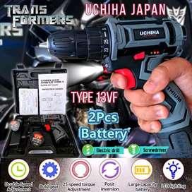 UCHIHA type 13volt mesin bor cordless baterai tembok besi kayu japan