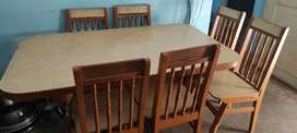 Dining table six sitter convertible