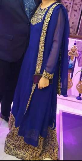 Floor length suit with duppta without leggings