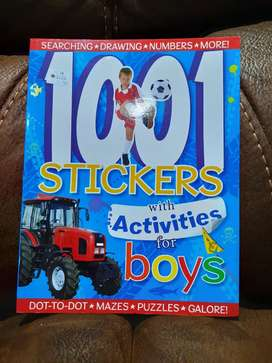 1001 stickers with activities for boys - buku BBW
