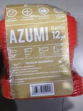 Kotak Mkn Plastik AZUMI BENTO ato STELLA CALISTA 12 pcs-Aman-Bbs BFA