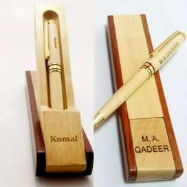 Wooden Ball pen Customized with luxury wooden box