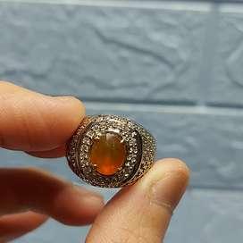 Natural orange saphire