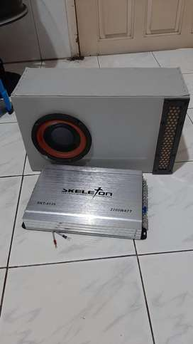 Subwoofer 6 inci + power 4 chenel audio mobil