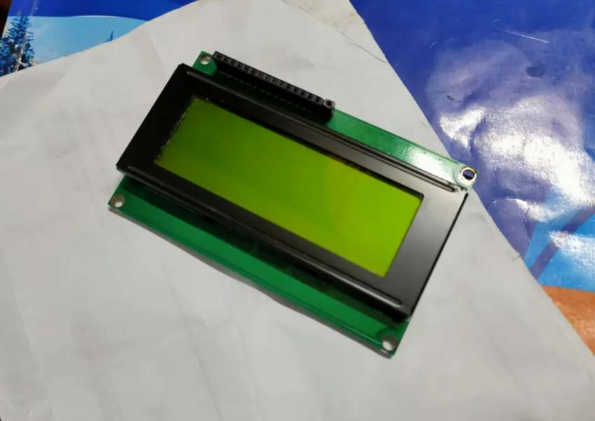 LCD 4x20 with Green Backlight + Keypad 4x4