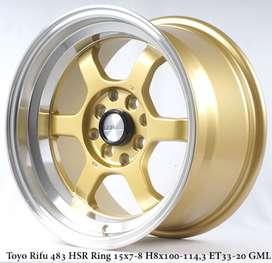 Velg model baru TOKYO RIFU 483 HSR R16X7/8 H8X100-114,3 ET33/20 GOLD