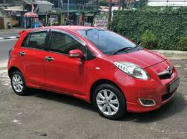 Toyota Yaris 1.5 E AT 2009 Merah Istimewa Sekali Mulus Trawat Spt Baru