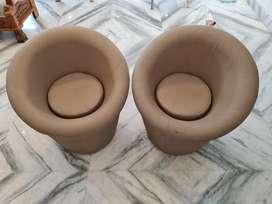 Single sitter 2 sofas