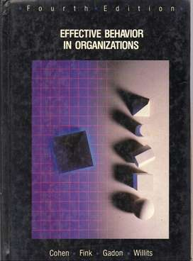 Effective Behavior In Organizations