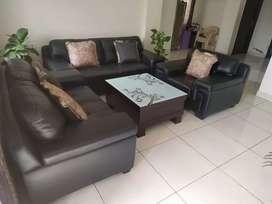 Leather sofa set(3+2+1)