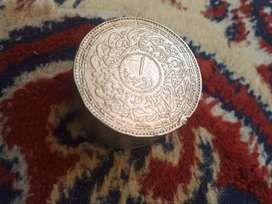 Antique silver coin box