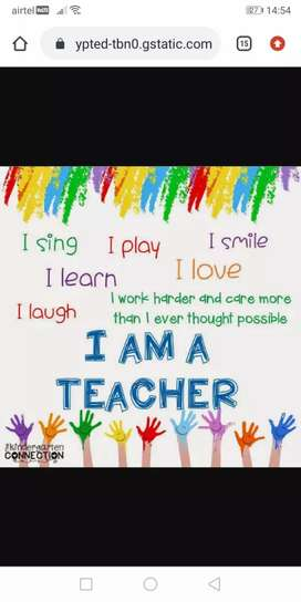 Required teacher for nursery school