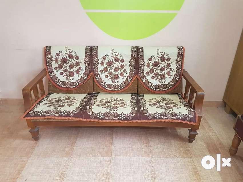 Sofa set (sofa+2chairs)fully tikwood - no plywood Very good condition 0
