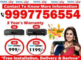 Tata Sky SD/HD Box Cash On Delivery dish tv tatasky