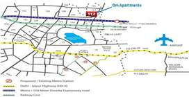 Two BHK Affordable Flat for Sale - Pareena Om Apartments Sec-112 Ggn.