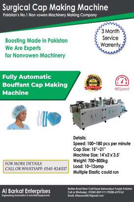 Bauffant cap making machine, Surgical cap making machine