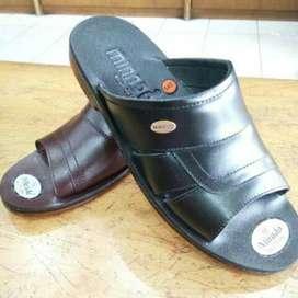 Sandal Kulit Mirado Asli Pria 542 hitam Original