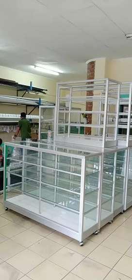 "Nuansa toko etalase aluminium ""ready stock harga agen""."
