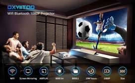 200 Inch Smart WIFI 4K Projector Watch TV Movies Mobile On Big Screen