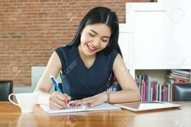 Only writing work home based__