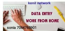 Work from home job data entry