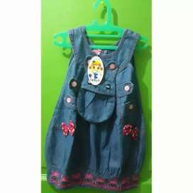 Gaun jeans anak perempuan