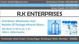 Mineral water bottle we deal in 20ltr jar 1ltr 500ml nd 250ml