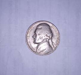 Old Coin Of United States Of America 1964 Of Five Cents