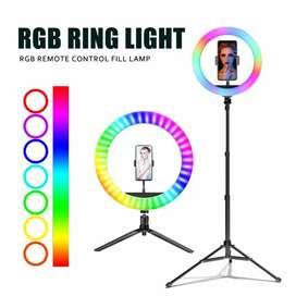 RGB LED Ring Light With 7 Feet Adjustable Tripod Stand