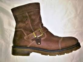 Men Long boots Casual Genuine Leather Size 44 Brown