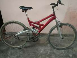 For urgent sale 2 years old fit cycle it is with back carrier